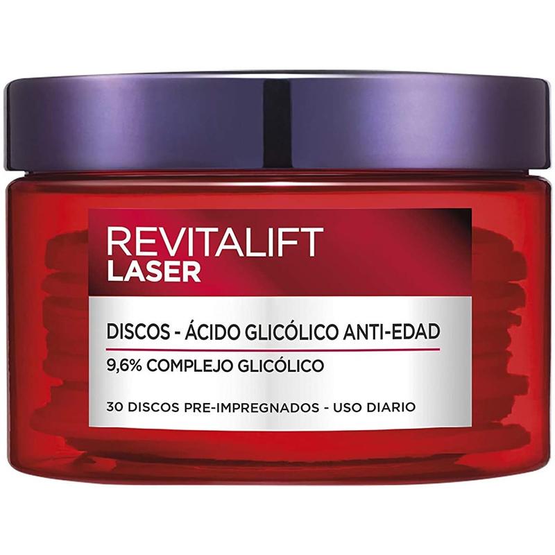 Discos antiedad con ácido glicólico Revitalift Láser de L'Oréal Paris.