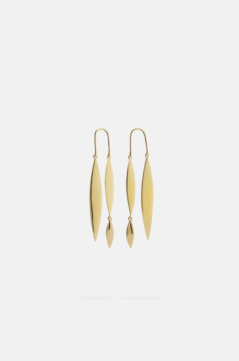 Pendientes dobles dorados