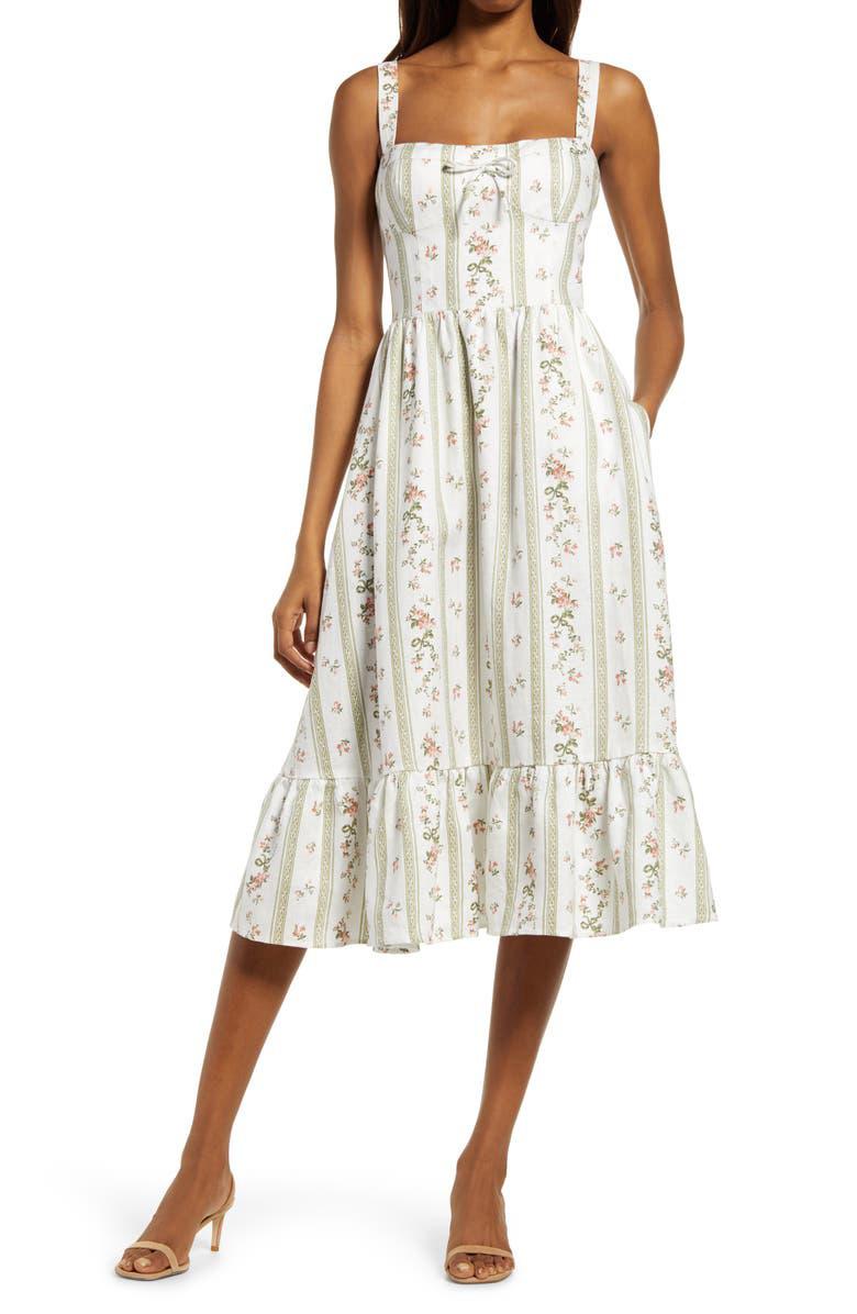 Vestido floral de Reformation.