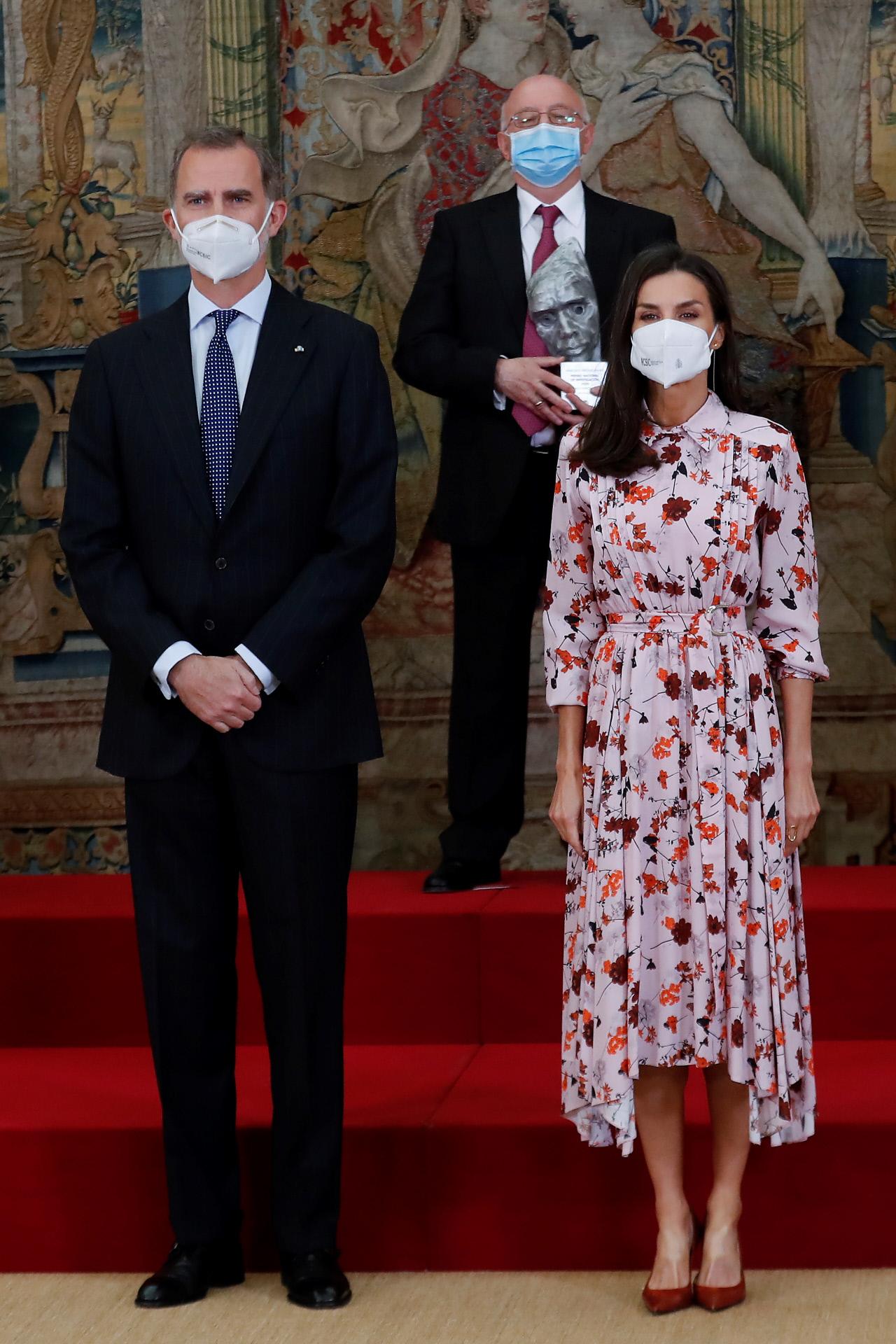 El Rey Felipe VI y la Reina Letizia en los Premios Nacionales de Investigación 2020