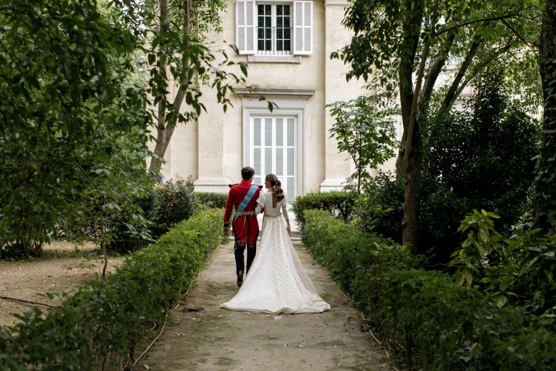 Detalle de la espalda del vestido de Belén Corsini