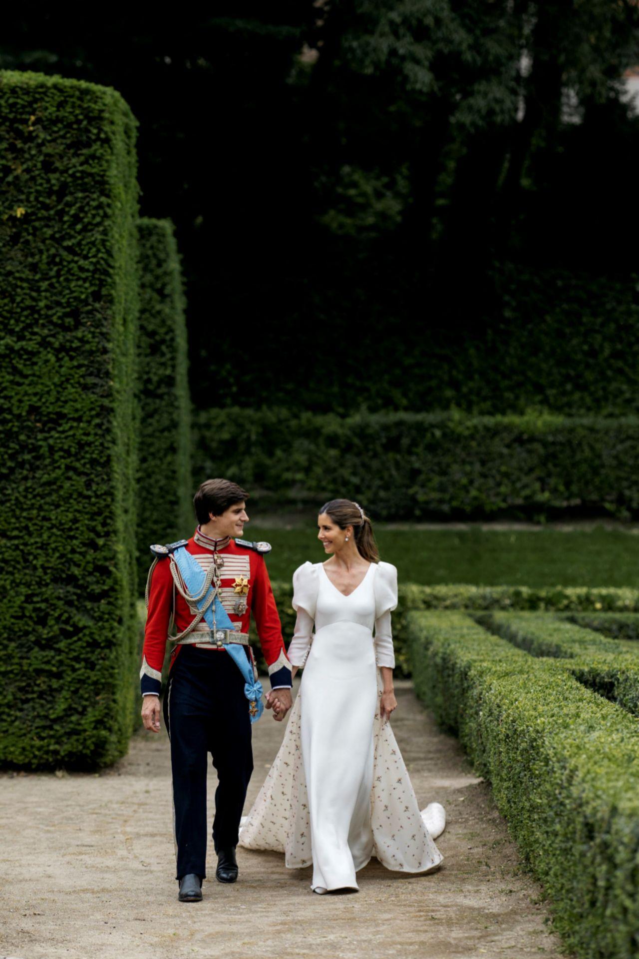 Belén Corsini confió su vestido de novia a Navascués