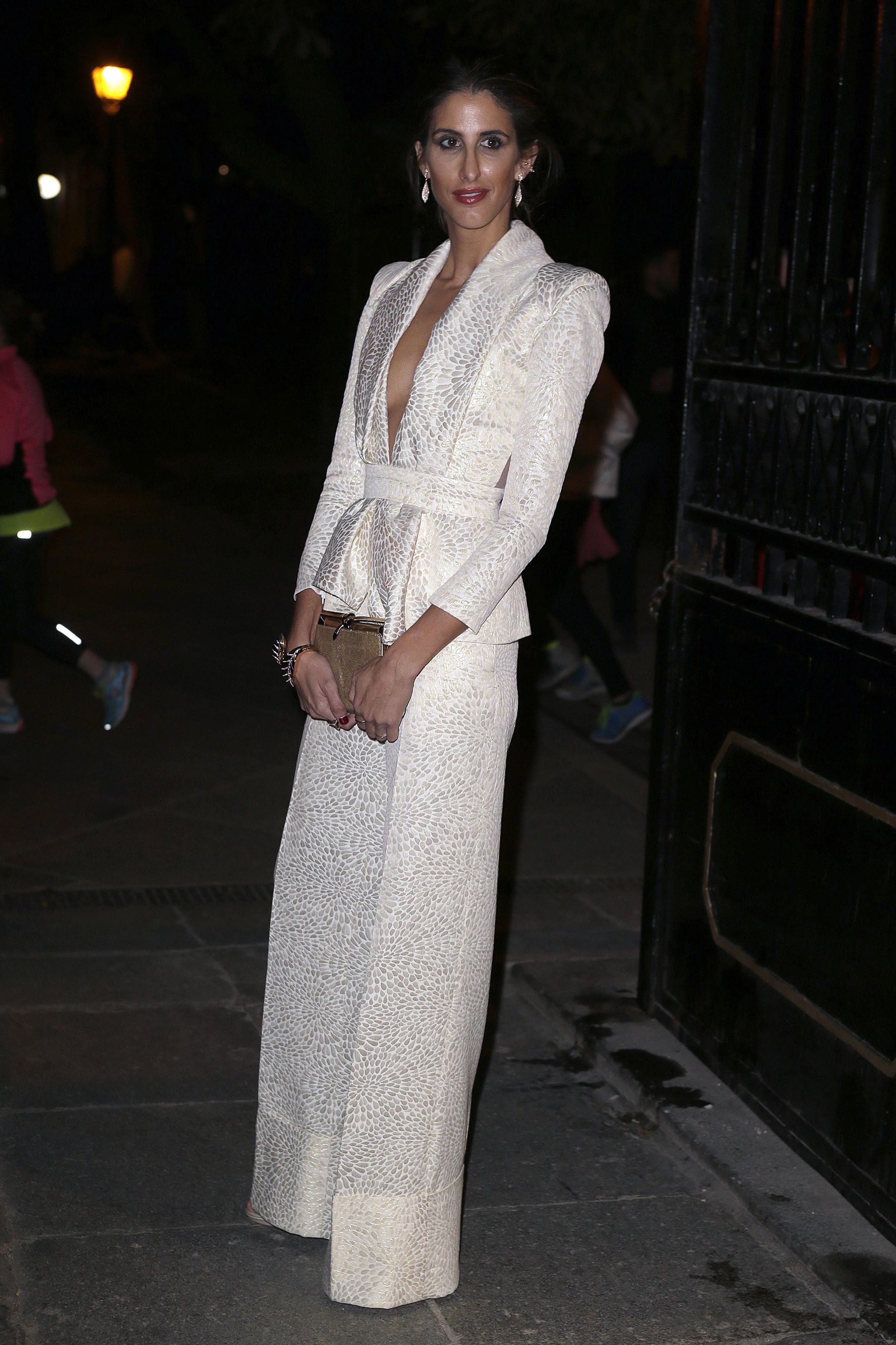Inés Domecq en un evento de moda en Madrid.