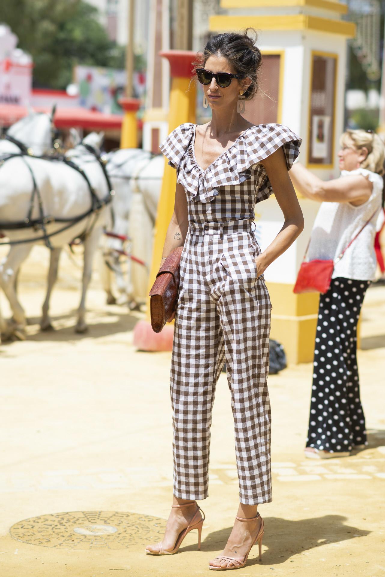 Inés Domecq en la  Feria del caballo de Jerez.