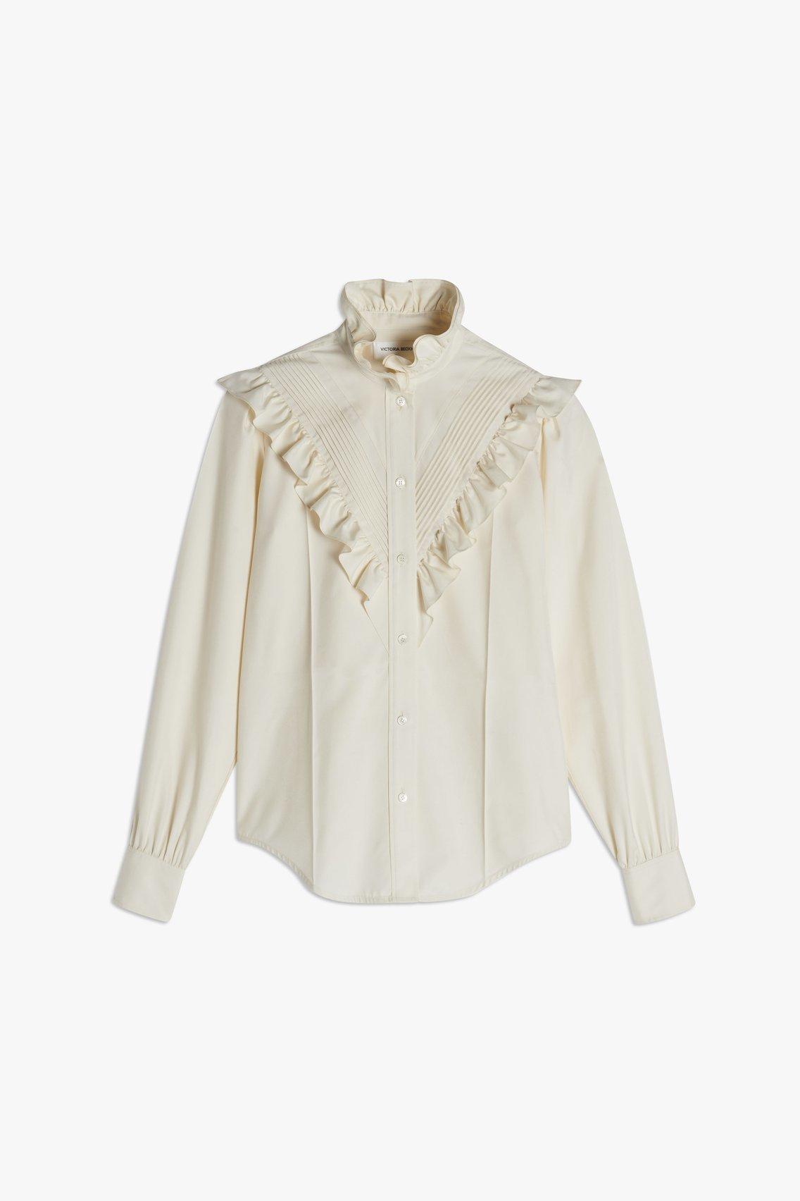 Camisa de seda, de Victoria Beckham.