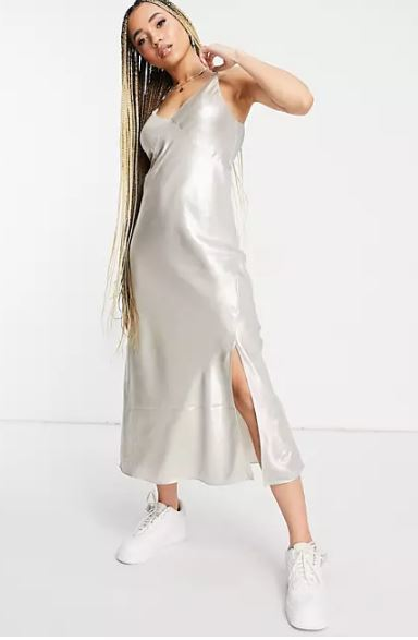 Vestido lencero largo de Calvin Klein
