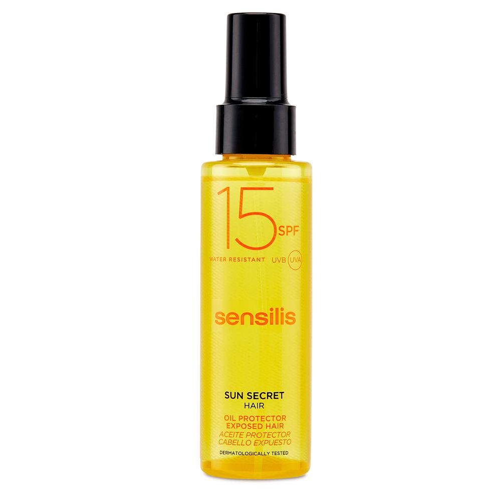 Aceite para el pelo SPF 15 de Sensilis.