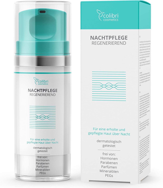 Crema antiarrugas facial de noche con sérum de ácido hialurónico y retinol  de Colibri Cosmetics de venta en Amazon.