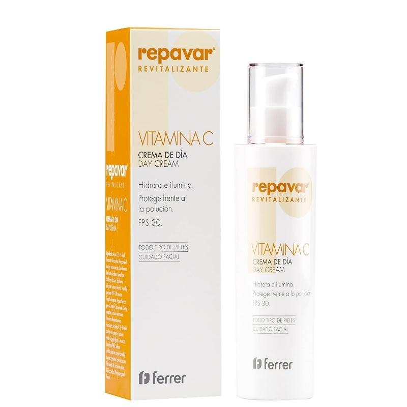 Crema facial de día con vitamina C de Repavar.
