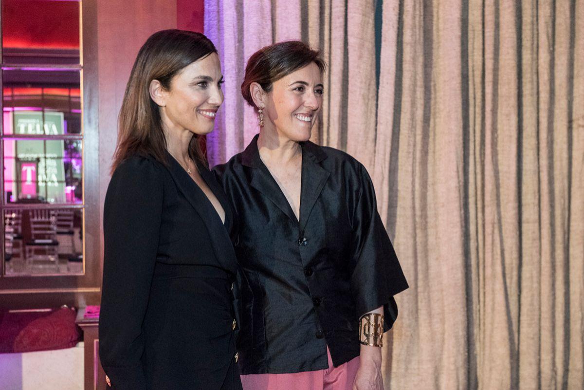 Olga Ruiz, directora de TELVA, y Toni Acosta.