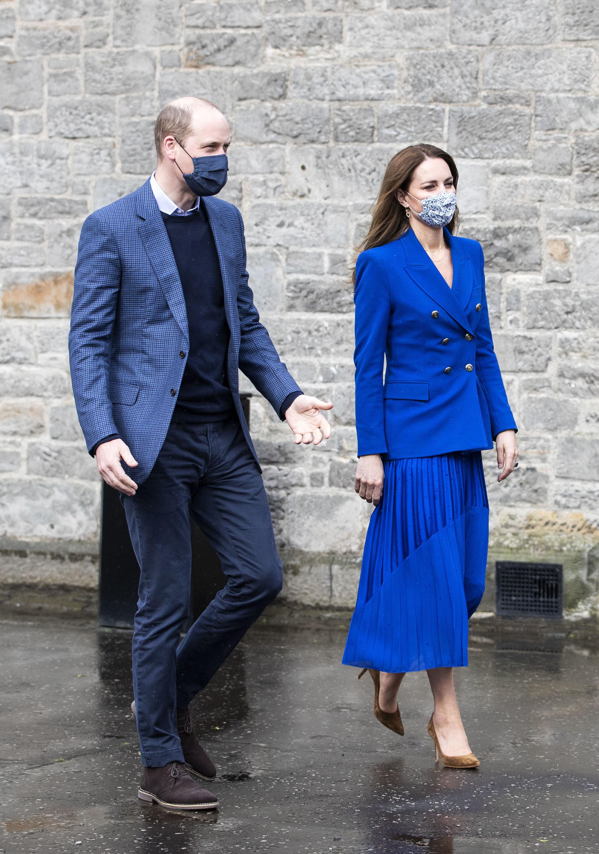 Los duques de Cambridge en su visita oficial a Escocia.
