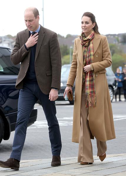 Kate Middleton con abrigo camel.