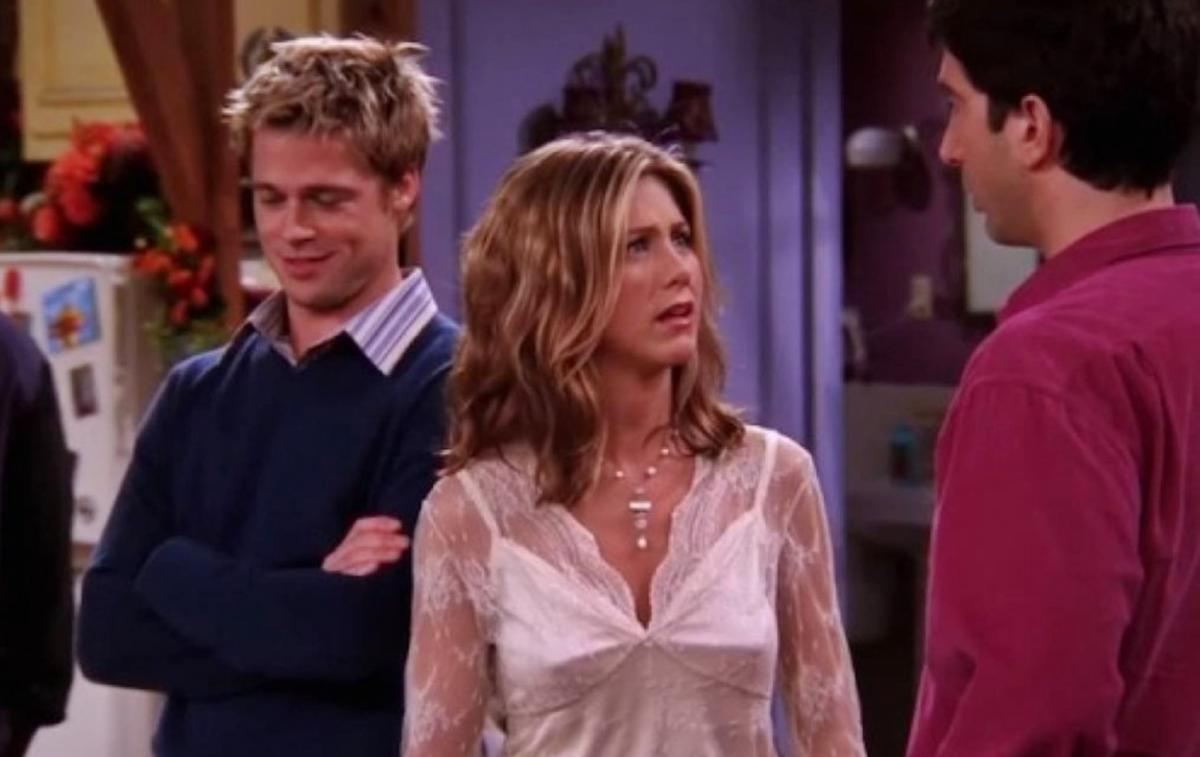 """Fotograma del cameo de Brad Pitt en """"Friends""""."""