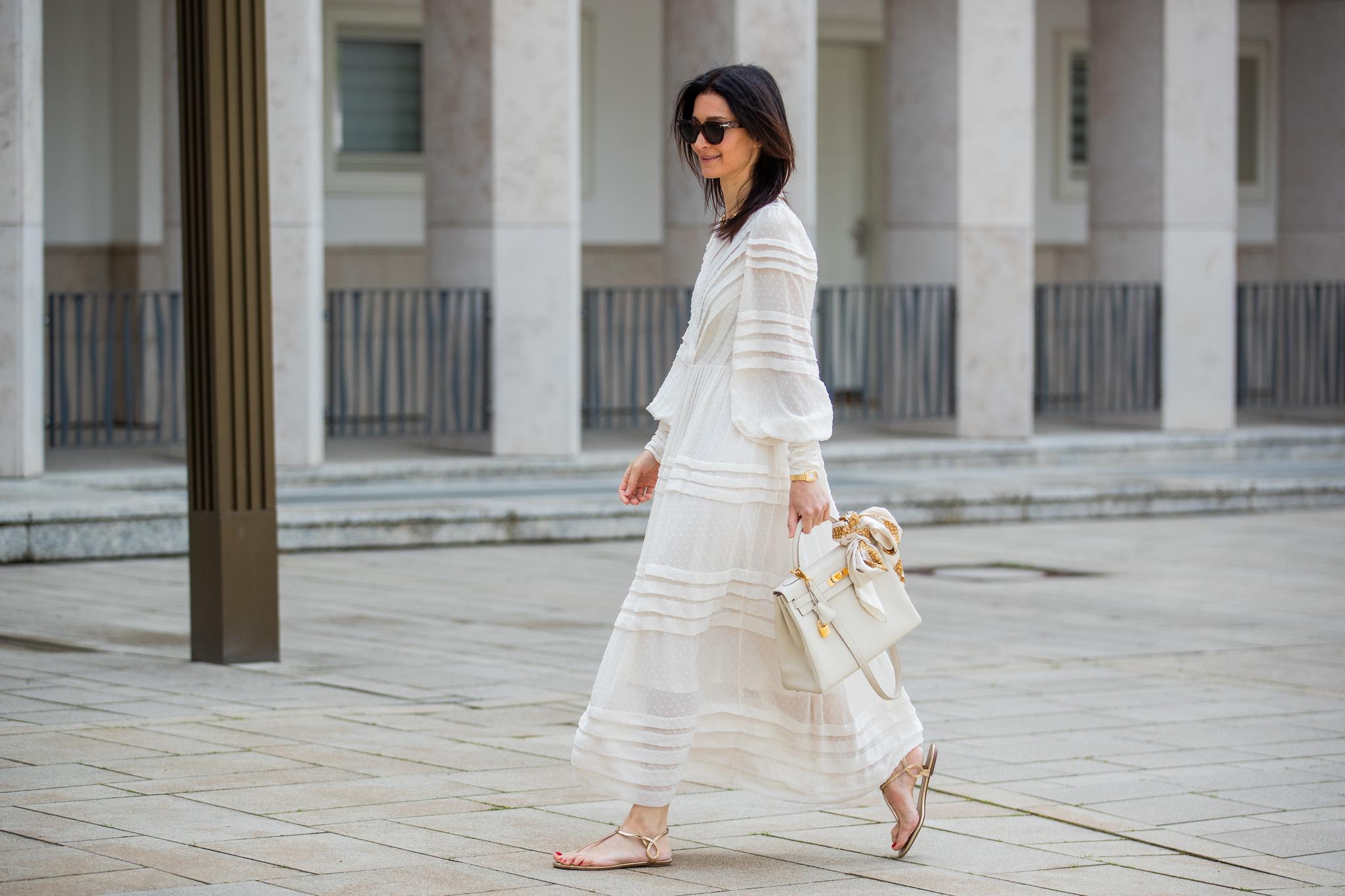 El vestido blanco como opción infalible.