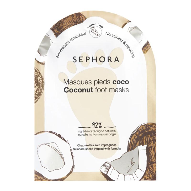 Mascarilla para pies de coco de Sephora Collection.
