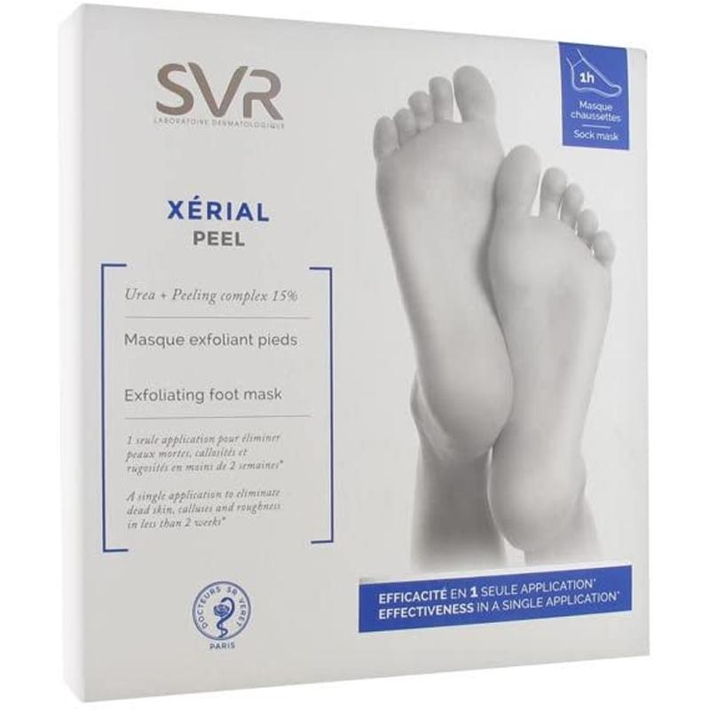 Mascarilla exfoliante para pies Xérial Peel de SVR.