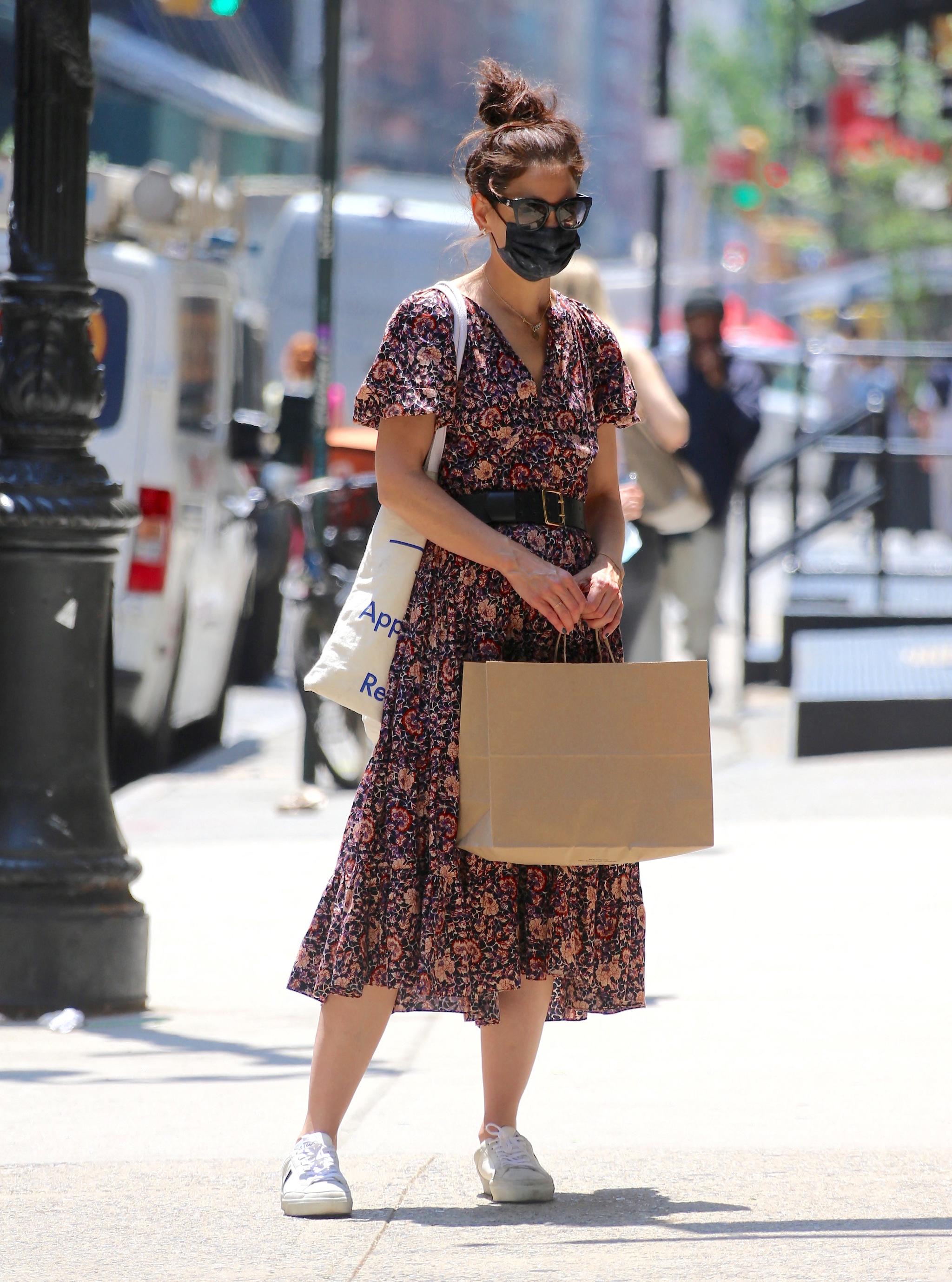 Katie Holmes en las calles de Nueva York.