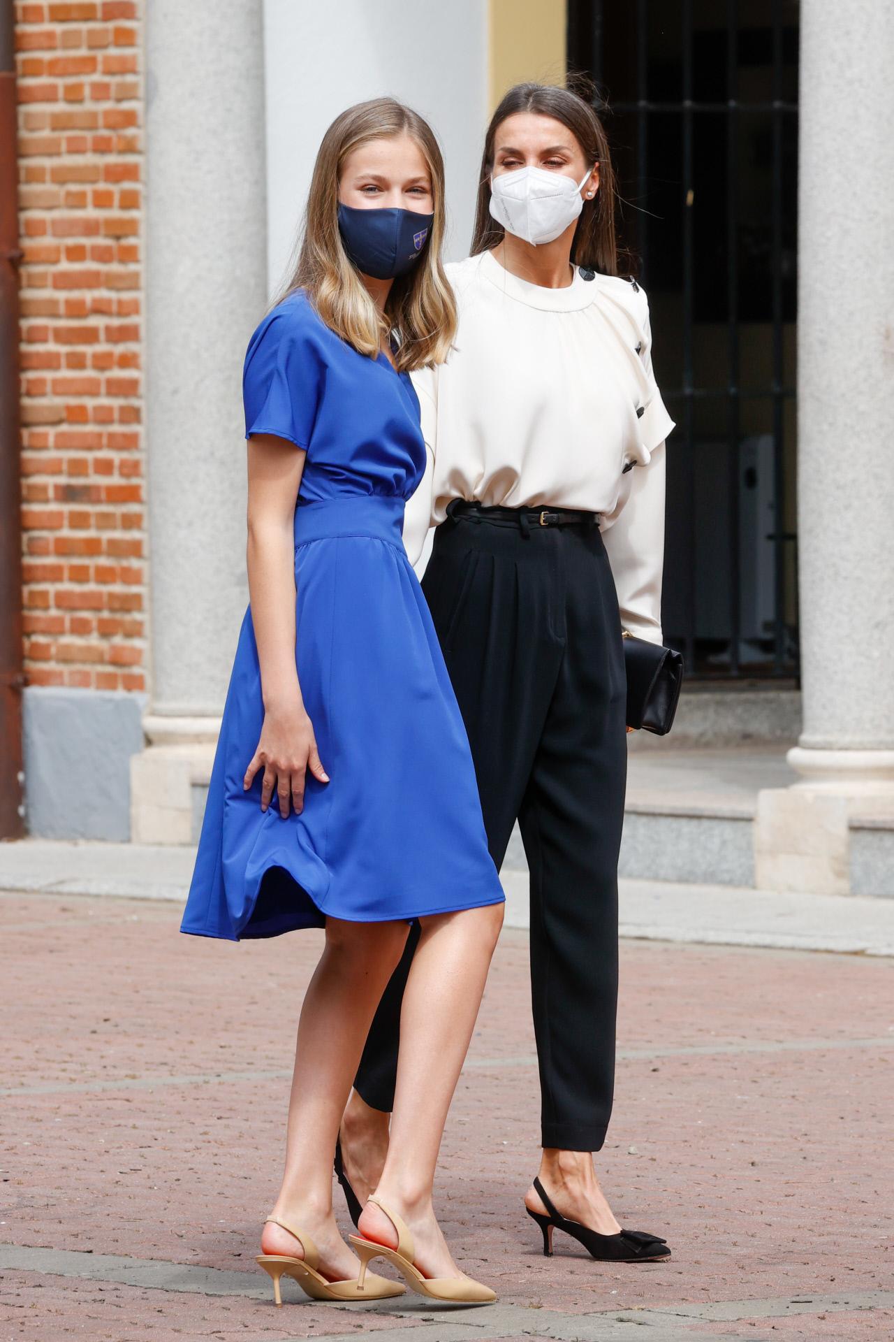 La reina Letizia y la princesa Leonor.