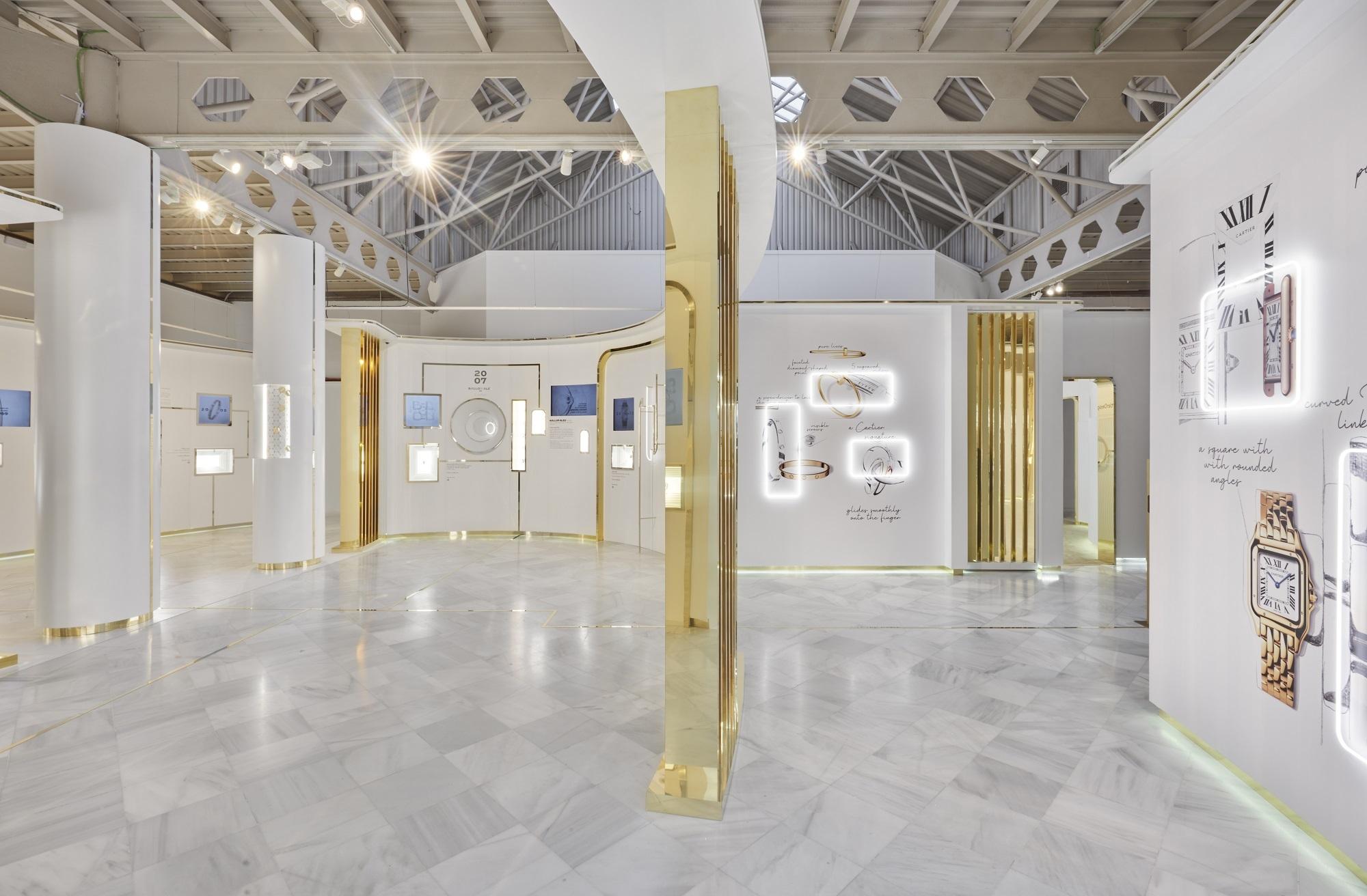 Uno de los espacios de la exposición de Cartier.