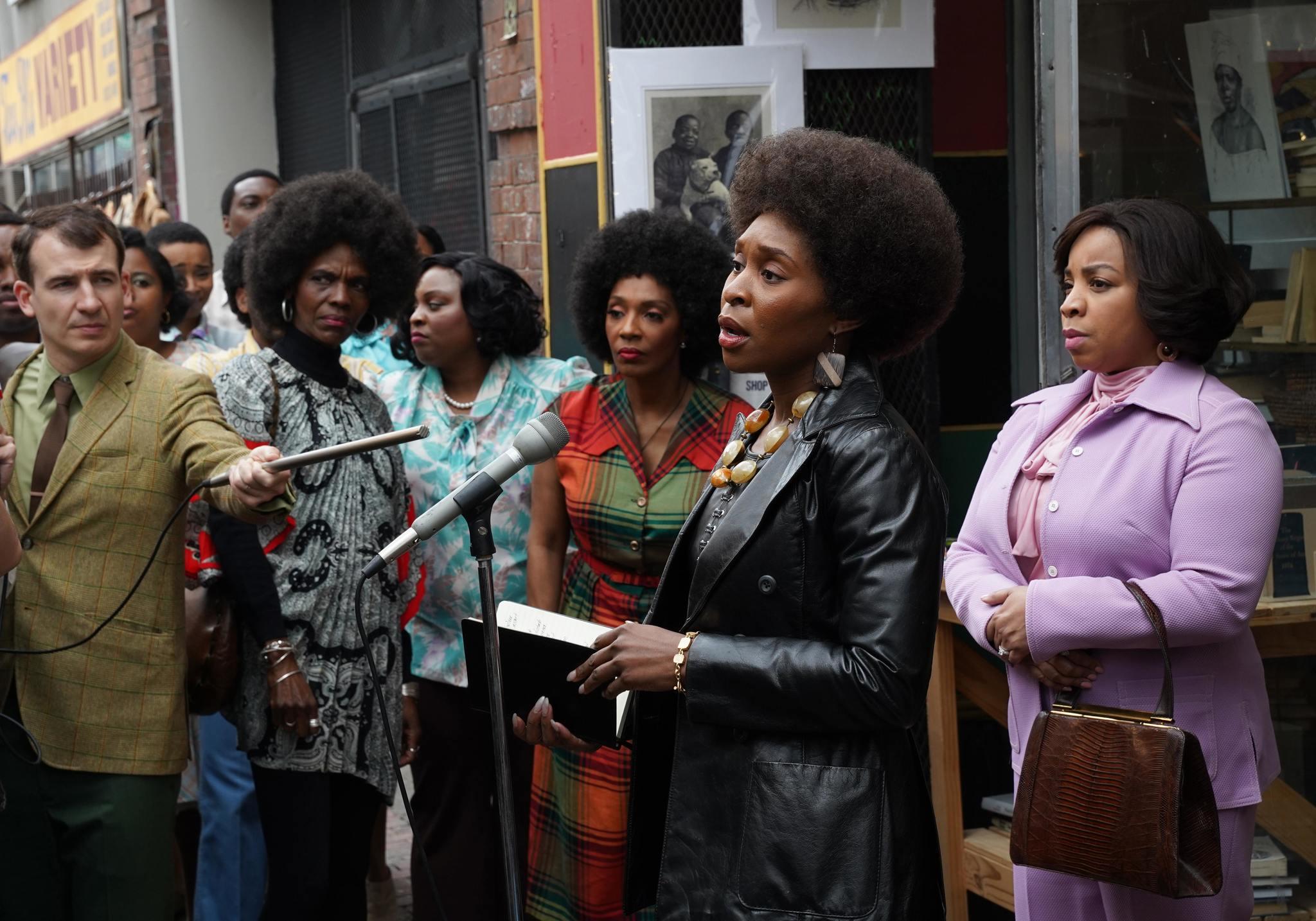 """Un fotograma de la serie """"Genius: Aretha"""", en la que se puede ver el compromiso activista de Aretha Franklin."""
