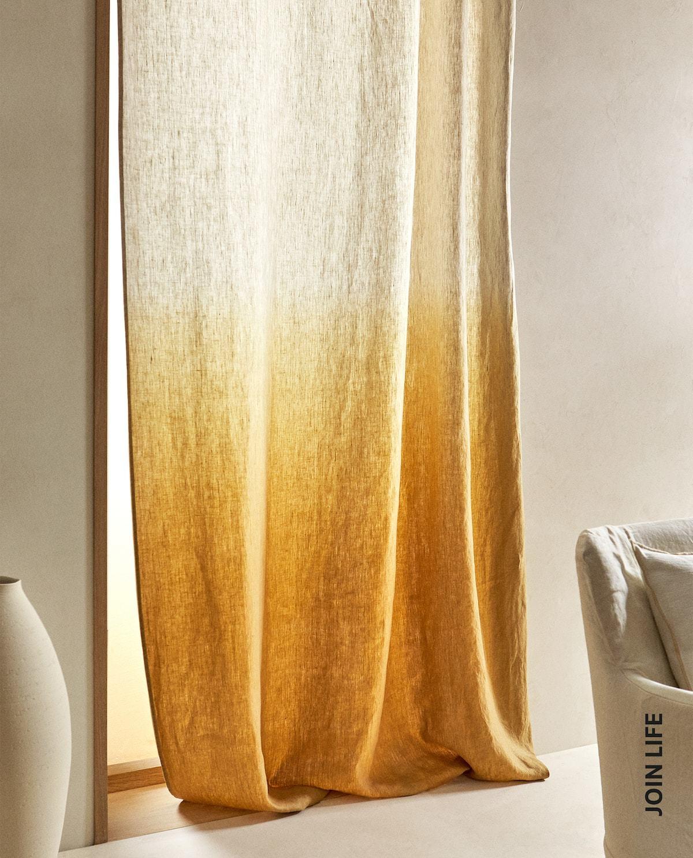 De lino degradado, de Zara Home.