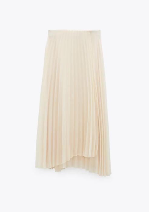 Falda asimétrica de Zara.