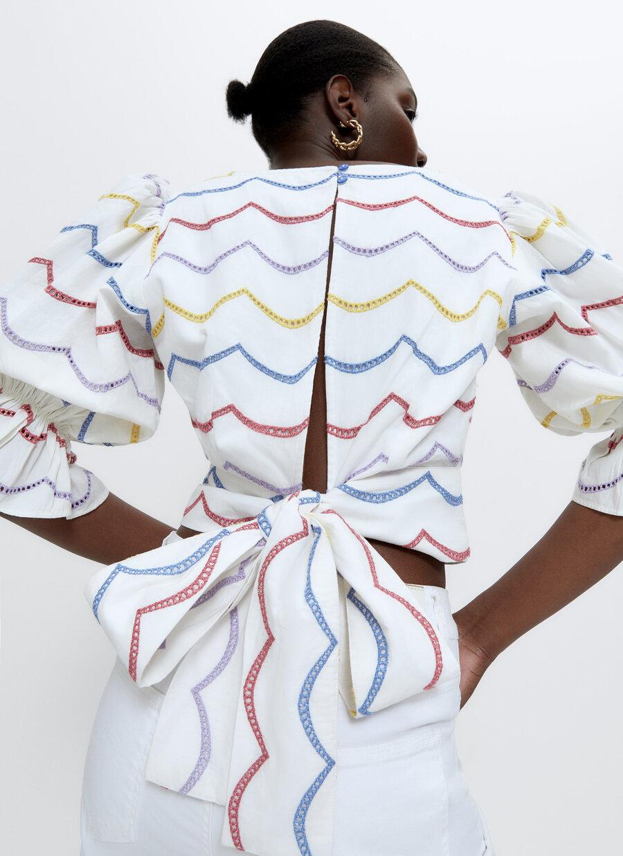 Detalle de la espalda de la camisa de Uterqüe.