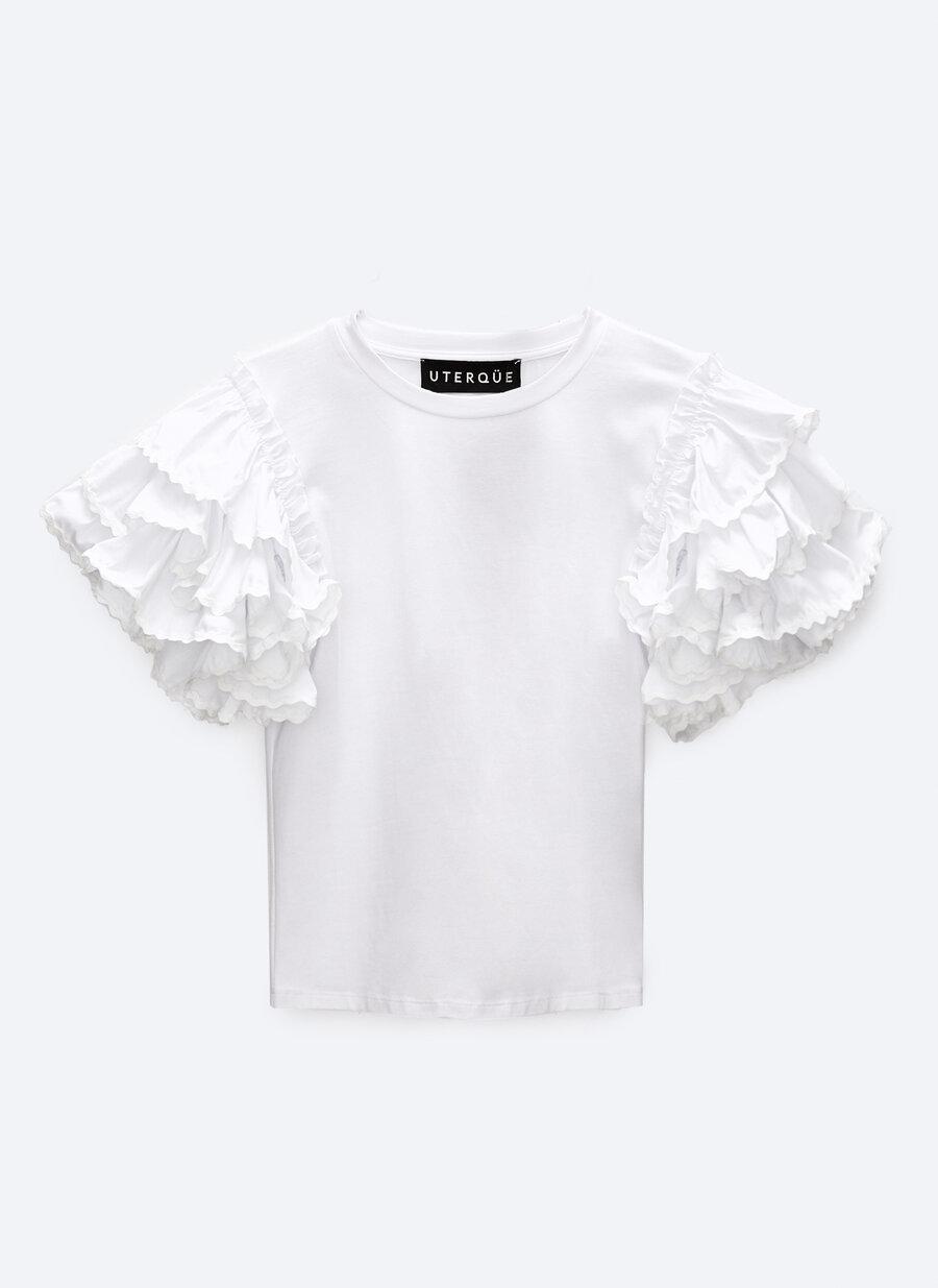 Camiseta con volantes de Uterqüe.