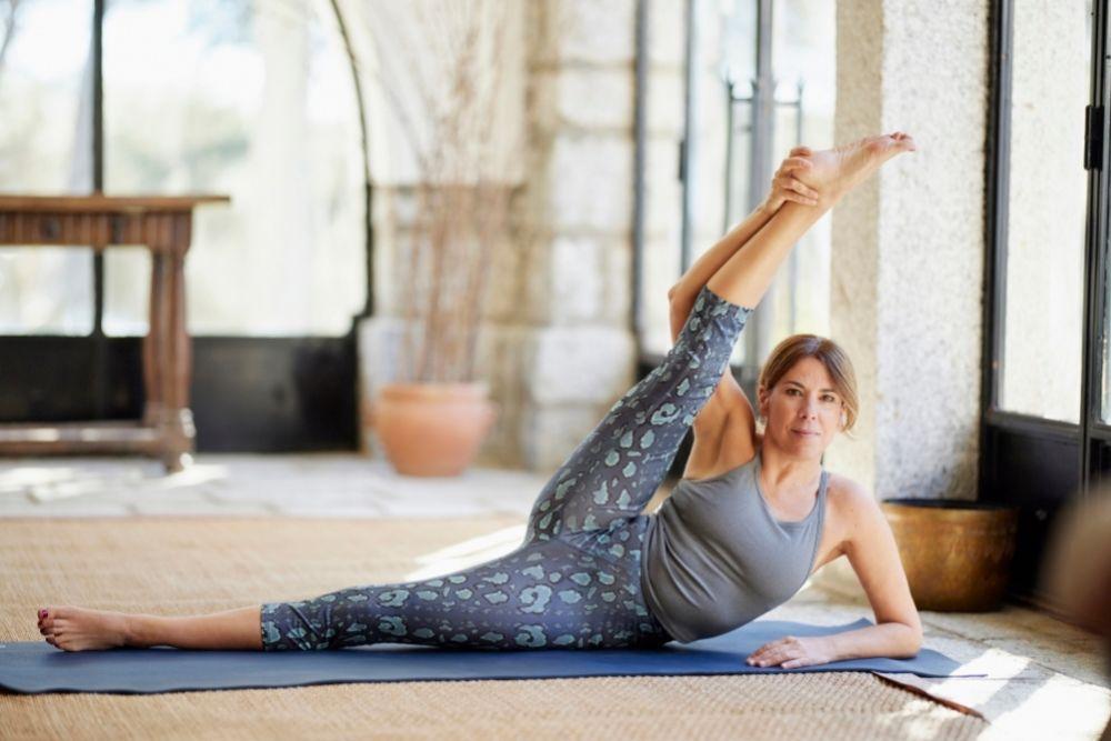 Pati Galatas, nuestra profesora de yoga.