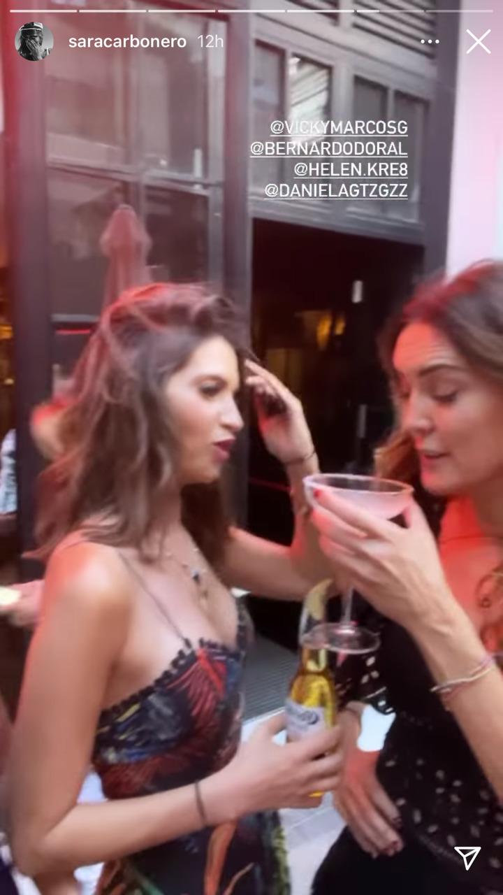 Sara Carbonero luciendo el vestido de Charo Ruiz Ibiza