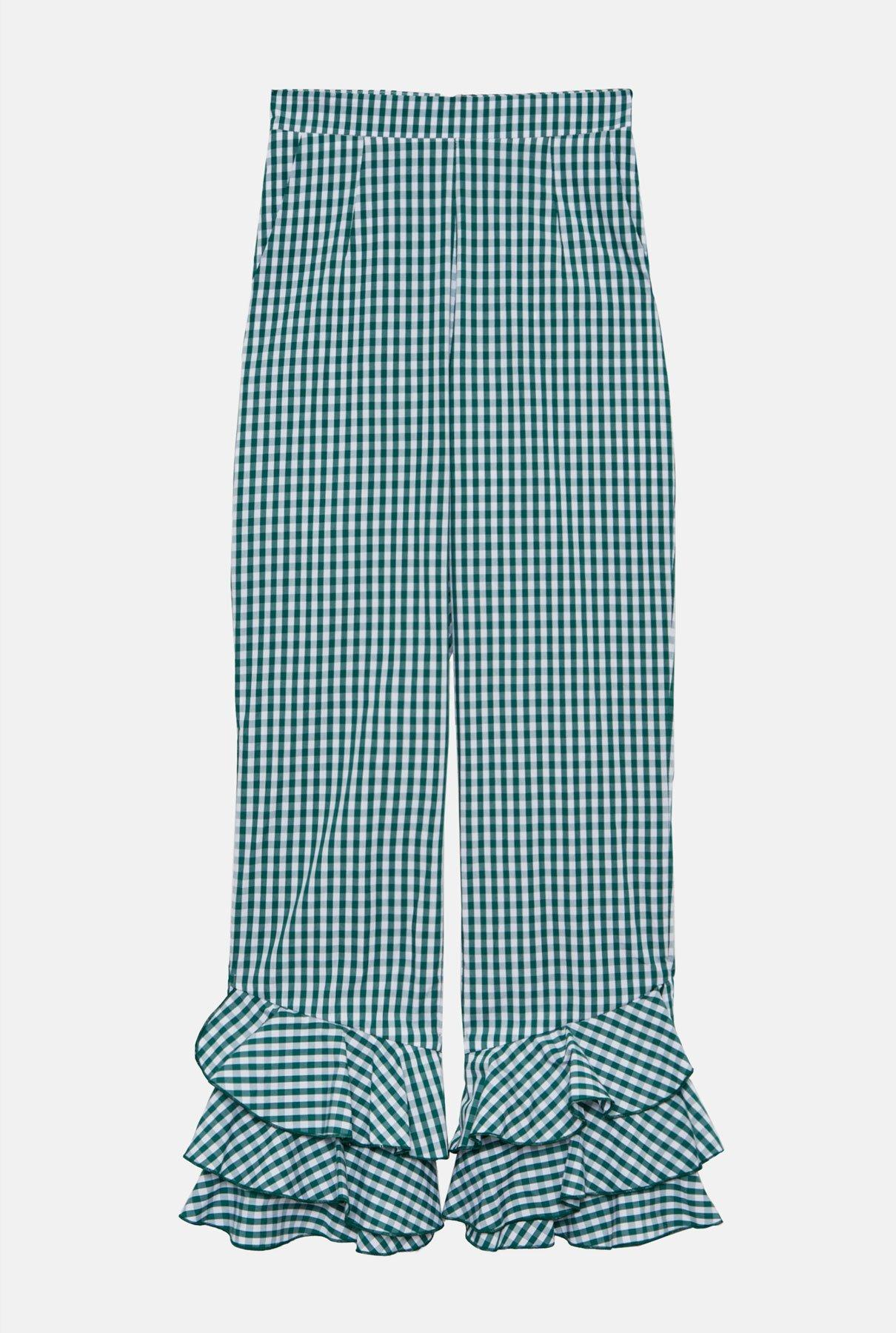 Pantalón de cuadros vichy, de Diddo Madrid.