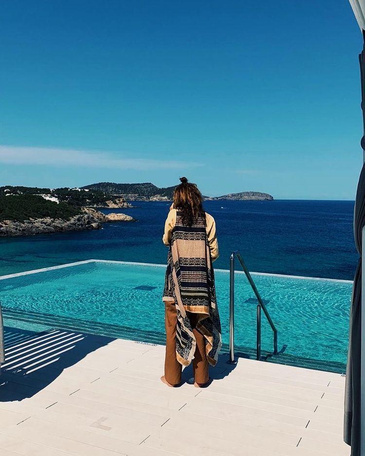 Eugenia Silva en Ibiza.