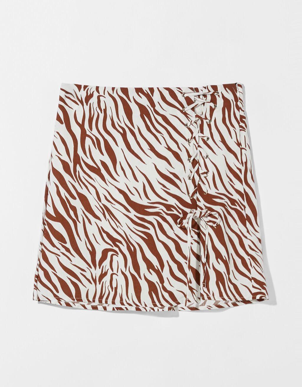Falda con estampado print