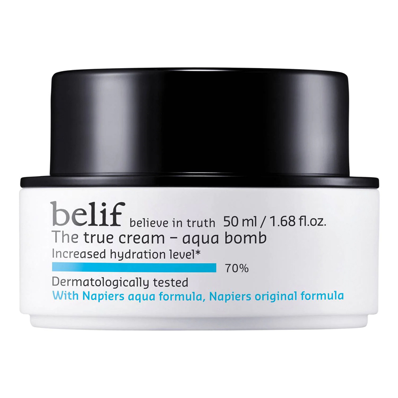 Crema en gel para hidratar el rostro The True Cream Aqua Bomb de Belif.