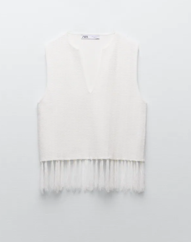 Top blanco de Zara.