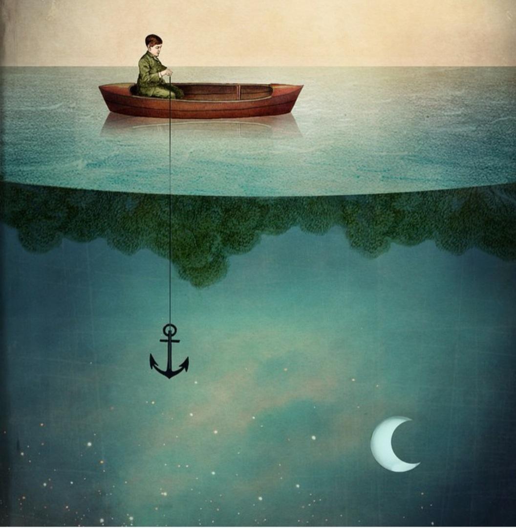 """""""Dreamland"""" es una de las obras de Catrin Welz-Stein. Puedes comprar una reproducción de este cuadro en Poster Store. Foto: @catrin_welzstein"""