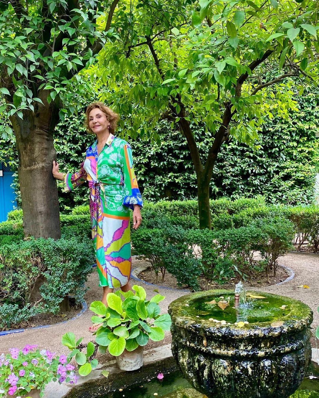 Naty Abascal con un conjunto de Zara.