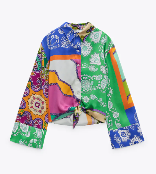 Camisa estampada de Zara.