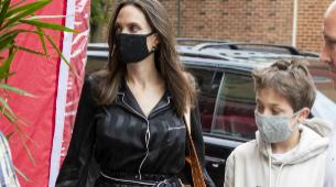 Angelina Jolie paseando por Nueva York con sus hijos