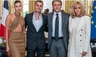 Justin Bieber, Hailey Bieber y los Macron