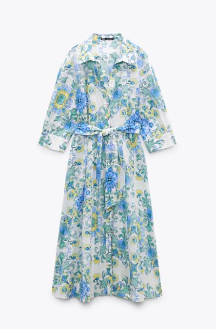 Vestido de flores, Zara.