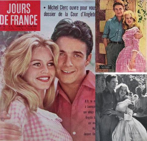 Boda entre Briggitte Bardot y Jacques Charriere