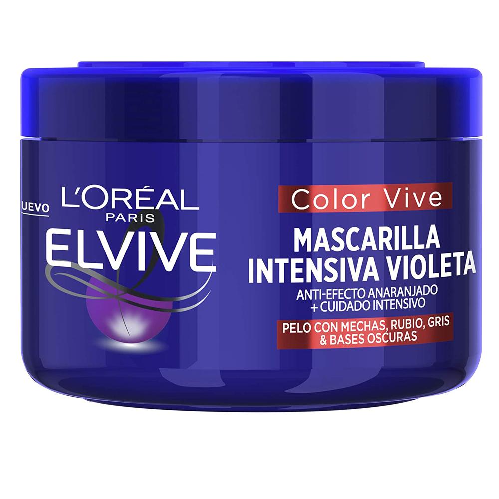 Mascarilla intensiva violeta Elvive de L'Oréal Paris.