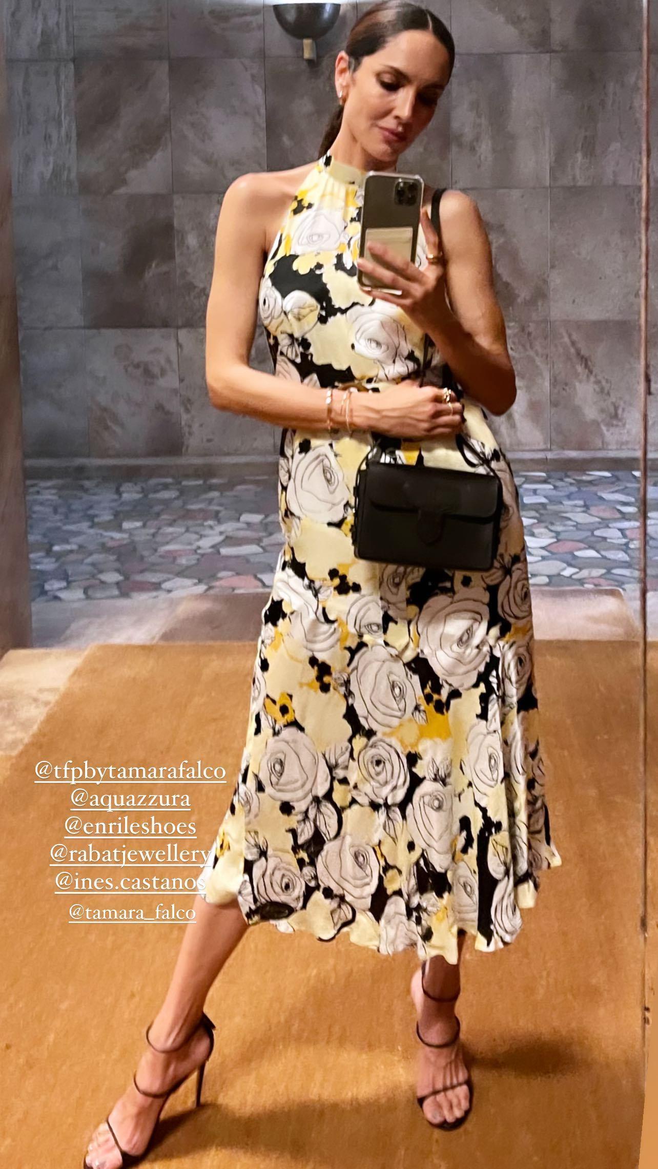 Eugenia Silva con un vestido de fiesta.