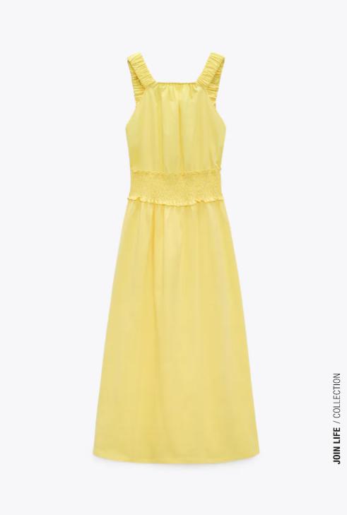 Vestido amarillo midi