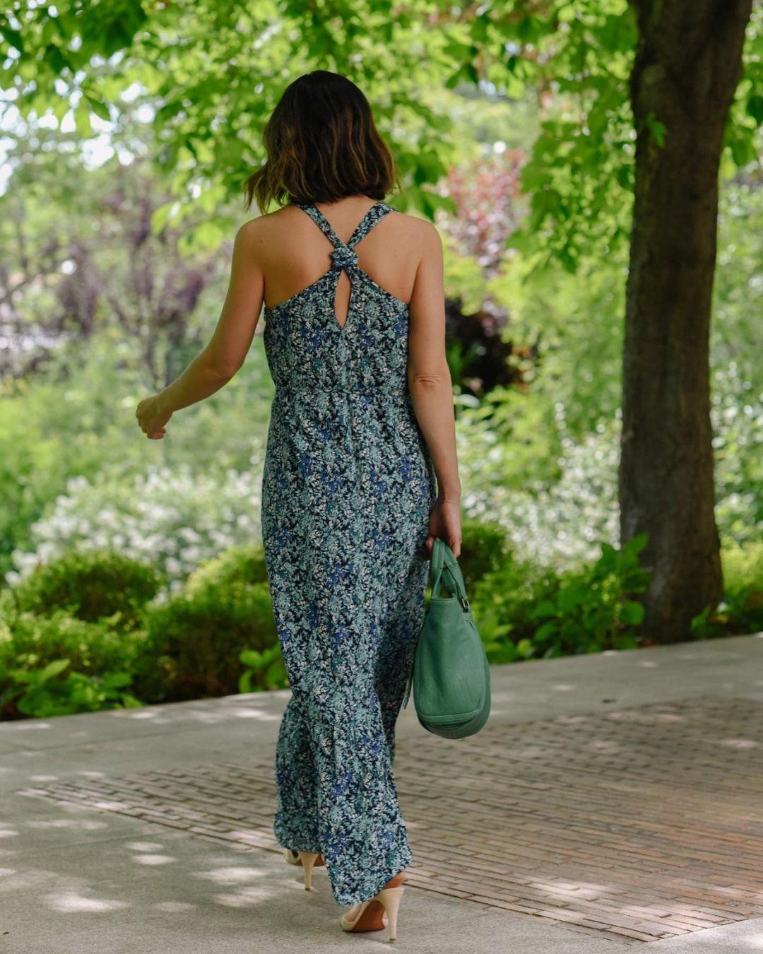 La espalda del vestido de IKKS de Tamara Falcó.