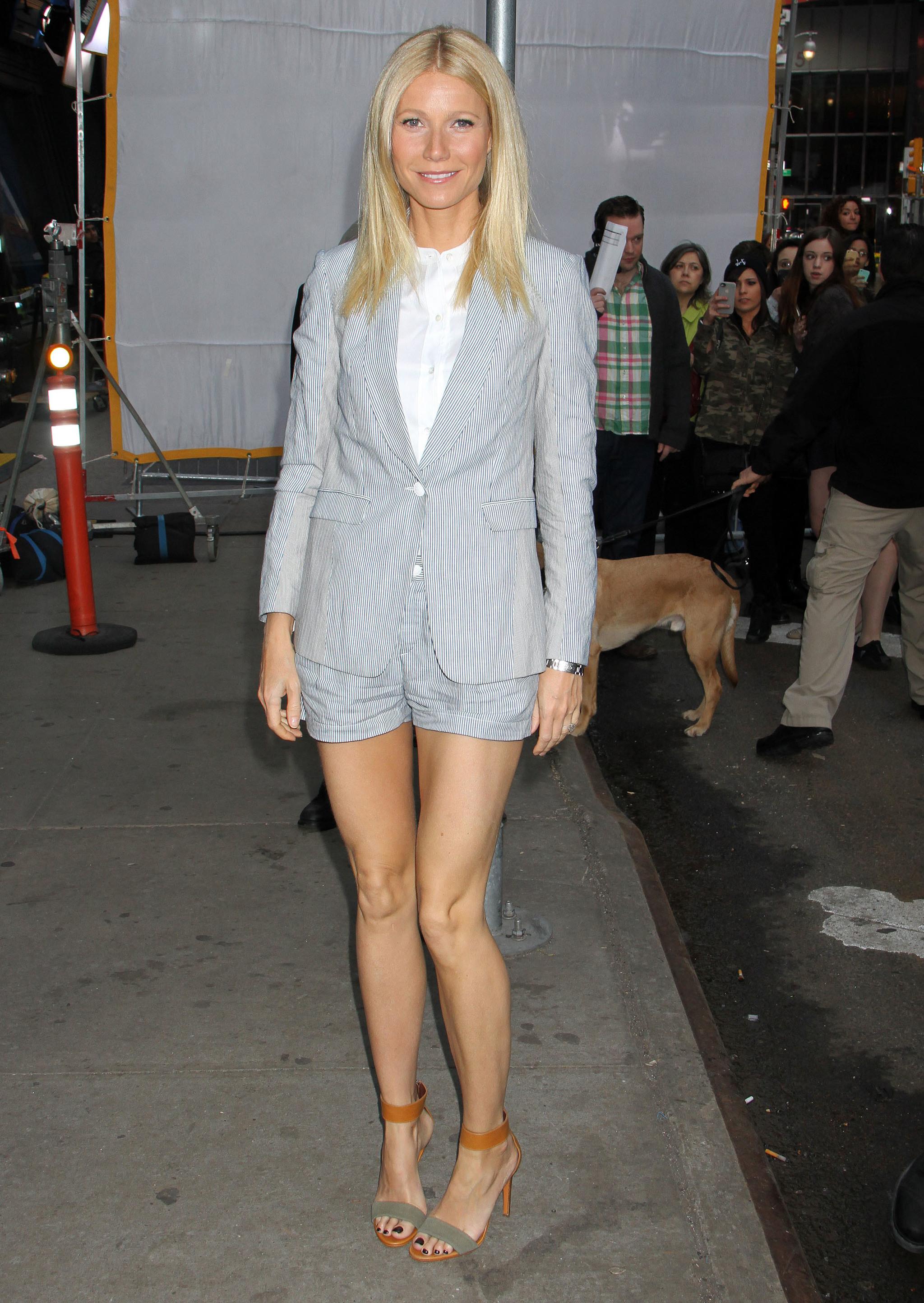 El sastre con bermudas de Gwyneth Paltrow.