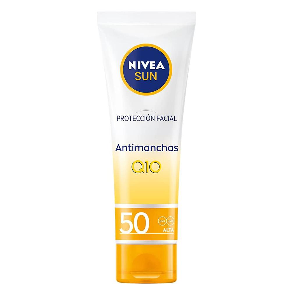 Crema Protección facial Antimanchas Q10 SPF 50 de Nivea.