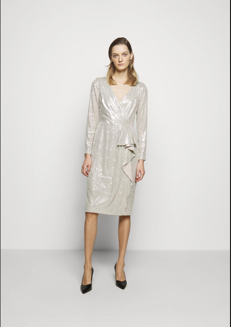 Vestido de lentejuelas, de Lauren Ralph Lauren