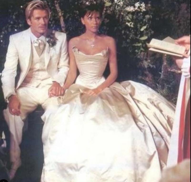 David y Victoria el día de su boda